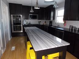interior design elegant kitchen island with chandelier and white