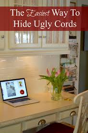organize cords on desk how to hide and organize messy cords exquisitely unremarkable