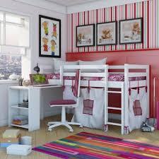 chambre fille lit mezzanine chambre enfant lit mezzanine enfant lit blanc accents papier