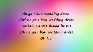 wedding dress lyric taeyang taeyang wedding dress easy lyrics
