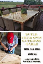 best 25 diy outdoor table ideas on pinterest outdoor wood table