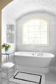Restoration Hardware Bath Rugs Bathrooms Alcove Marble Basketweave Tiles Floor Polished Nickel