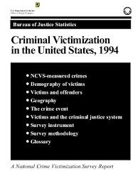 us bureau of justice victimization in the united states 1994 bureau of justice