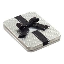 gift card tin silver gift card holder tin the container store