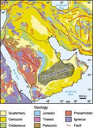rub al khali map mesozoic siliciclastic reservoirs and petroleum system in the rub
