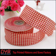 wholesale wired ribbon wired gingham ribbon gingham ribbon