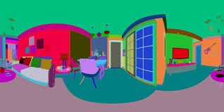 panorama 360 nordic style living room dining room 21 3d model max