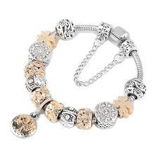 charm bracelet vintage silver images Vintage silver color charm bracelet with tree of life pendant jpg