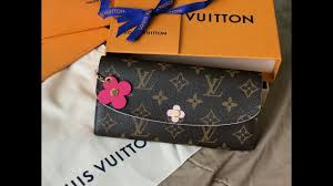 bloom wallet louis vuitton emilie wallet in blooms flower asmr unboxing