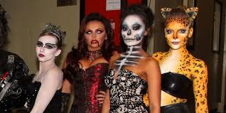 little mix show off their amazing halloween costumes on celebrity