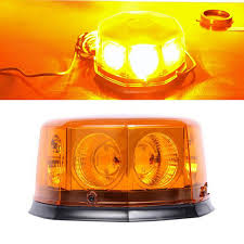 magnetic base strobe light cob 8 led 12 flashing mode car auto beacon lights emergency hazard