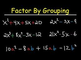 factor by grouping polynomials 4 terms trinomials 3 terms