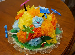 Easter Bonnet Decorations by Craft How To Make A Butterfly Garden Easter Bonnet At Home With