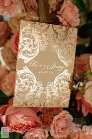 gold wedding programs ornate invitations ceci style