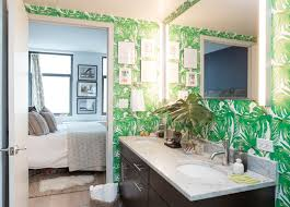 luxurious wallpaper in bathroom for your home remodeling ideas