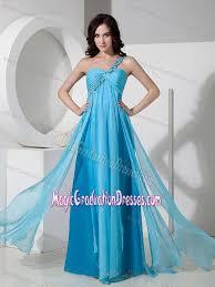 pretty graduation dresses blue one shoulder chiffon 5th grade graduation dresses in