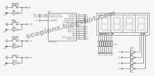 seven segment simple digital clock circuit 16f628 scorpionz