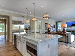 small traditional kitchen with living room chrome 1 light pendant