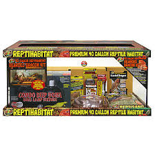 zoo med reptihabitat bearded dragon 40 gallon terrarium kit