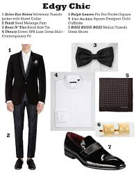 black tie attire putting a modern twist on black tie attire