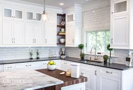 black butcher block kitchen island black white kitchens with wood countertops and butcher blocks
