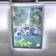 led picture frame light led backlit picture light box a1 size wall mounted acrylic led photo