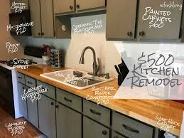 Updating Kitchen Cabinets On A Budget Kitchen Refresh On A 500 Budget Kitchens Brown Kitchens And