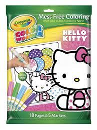 amazon com crayola color wonder hello kitty 18 page coloring pad