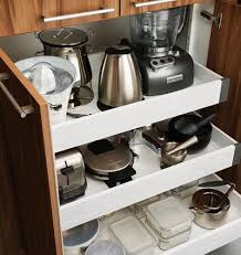 kitchen appliance storage cabinet 40 appliance storage ideas for smaller kitchens removeandreplace com