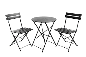 Folding Bistro Table And 2 Chairs Chair Outside Patio Furniture Metal Patio Furniture Bistro Table
