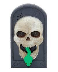 halloween doorbell skull light u0026 sound as scary deko horror shop com