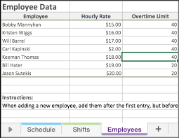 free excel employee scheduling template when i work
