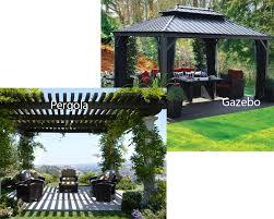 Pergola Gazebo Difference by Pergola Vs Gazebo Homeverity Com