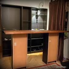 diy home bar built from billy bookcases ikea hackers ikea hackers