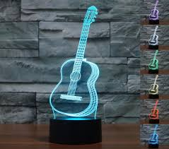 lmeison guitar 3d optical illusion desk lamp unique night light