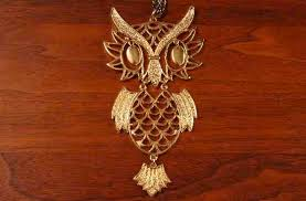 gold owl pendant necklace images A vintage owl necklace guide penn polly vintage collectibles jpg