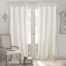 elrene jolie tie top curtain panel overstock com shopping the