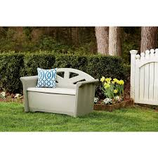 Waterproof Patio Storage Bench by Amazon Com Rubbermaid Outdoor Patio Storage Bench 4 Cu Ft