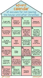 advent calendar of excuses for not leaving your house neatorama