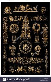 xix century empire metal ornaments stock photo royalty free
