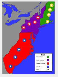 Map Of New England by Map Of New England Colonies Middle And Southern London Map