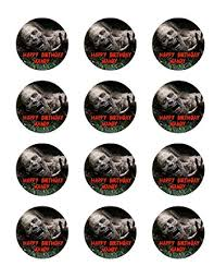 personalized cupcake toppers the walking dead 12 cupcake toppers twd edible