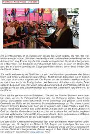 Allgemeine Zeitung Bad Kreuznach Presseberichte U2013 Evangelische Schaustellerseelsorge