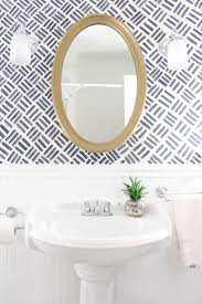 Ideas For A Small Bathroom Makeover Colors Top 25 Best Small Bathroom Wallpaper Ideas On Pinterest Half