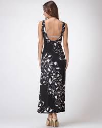 floral foil black white venecia with floral foil maxi dress discount women s