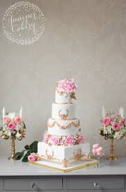 bespoke cakes ornate gold and blush pink wedding cake