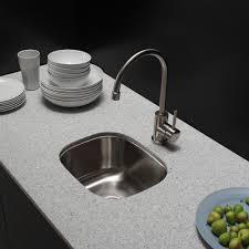 decor kitchen island and quartz countertop with kraus sink also