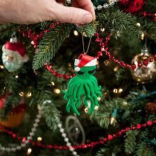 geeky christmas cthulhu ornament ornament christmas ornament