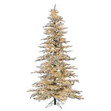 7 5 micro led pre lit flocked wyoming snow pine tree