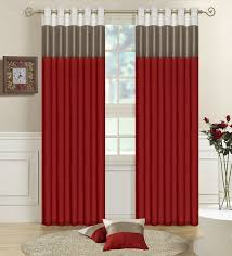 accessories modern cheerful curtain design with brown red pattern